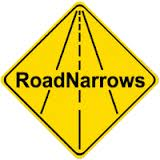 Road Narrows logo
