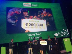 Fargreen pitches for 200K euro win in Postcode Lottery Green Challenge in Amsterdam, Netherlands