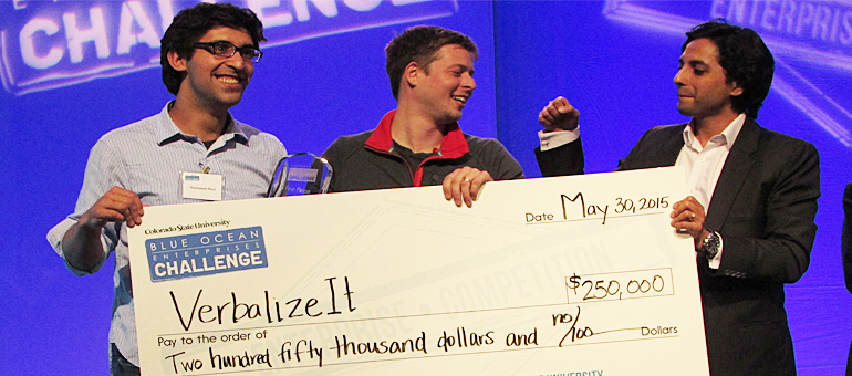 VerbalizeIt takes home $250K CSU Blue Ocean Enterprises Challenge award on Saturday