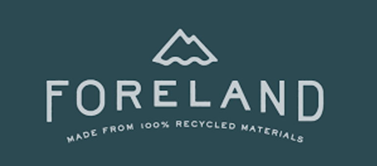 Foreland offers recycled apparel to reduce pollution