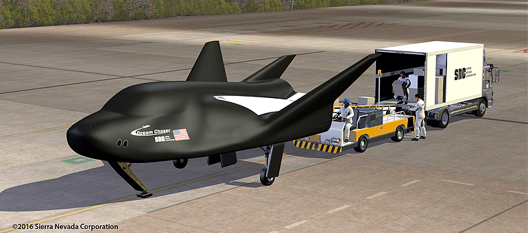 Dream Chaser spaceplane wings arrive in Colorado