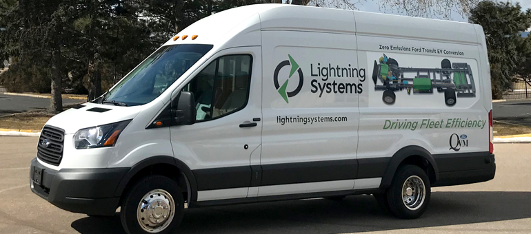 Lightning Systems rolls out all-electric Ford Transit on schedule, announces hydrogen fuel cell version
