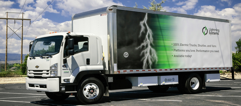 Lightning Systems: All-electric powertrains now offered in California