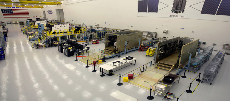 Lockheed Martin assembles third GPS III satellite for U.S. Air Force