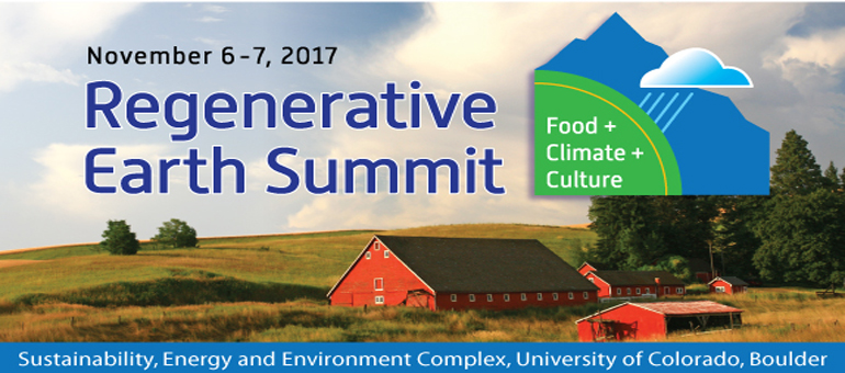 Speakers announced for Regenerative Earth Summit set for Nov. 6-7 in Boulder